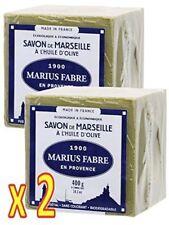 Savon de MARSEILLE  HUILE OLIVE Cube de 400g Marius Fabre - Lot de 2 Cubes 400g