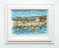 French Sailing Original Painting Windsurfing Nautical Art Framed St Tropez Beach