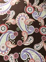 Paisley On Brown Benartex Cotton Quilting Fabric BTY (YD)