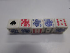 New Crisloid 2 In 1 - Dice Poker/Lucky Dice Games - New In Plastic Case