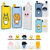 Kakao Friends Clear Art Jelly Case for Samsung Galaxy S9 S9+ S8 S8+ S7 S7 edge