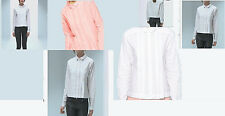 NWT Designer Pleated Front Tuxedo SHIRT in Pure COTTON by asos  WHITE PINK