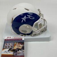 Autographed/Signed AARON DONALD Los Angeles Rams AMP Mini Helmet JSA COA Auto