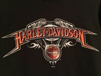Vintage Harley Davidson T Shirt Large Mens Black Graphic Tee