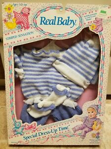 Vintage Hasbro Real Baby Striped Sensation Outfit