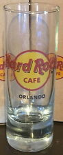 "Hard Rock Cafe ORLANDO 4"" SHOT GLASS Red CIRCLE HRC LOGO Cordial MINT New JIGGER"
