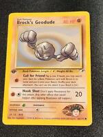 66/132 | Brock's Geodude | Gym Heroes | Pokemon Card | Near Mint