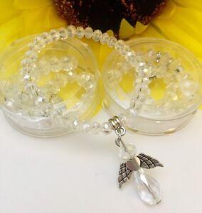 12PC Baptism Angle Rosary Favors Bracelets Party Communion Recuerdos de Bautizo