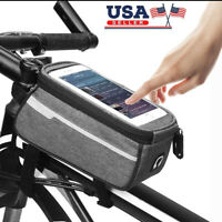 MTB Road Bike Bicycle Front Tube Frame Bag Phone Holder Storage Pouch Pannier US