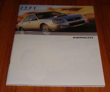 Original 2004 Subaru Impreza Sales Brochure 2.5 RS TS Outback WRX STi