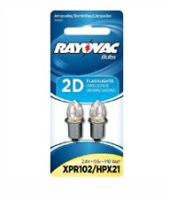 Rayovac XPR102-2TA * Xenon bulb for 2 cell D size Flashlight - 2 Pack