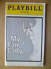 PLAYBILL URIS THEATRE PROGRAMME 1981- MY FAIR LADY by ALAN JAY LERNER
