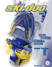 Ski-Doo parts manual catalog book 2002 GRAND TOURING 500 & GRAND TOURING 600