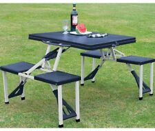 Camping Picnic Table And Stools Folding Set Portable Used For Outdoor Garden