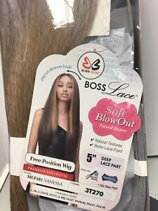 Bobbi Boss MLF481 VANESSA Long Blow Out Lace Front Wig, 3T270 Rooted Dark Blond