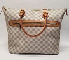Authentic Louis Vuitton Damier Azur Saleya GM Shoulder Tote Bag