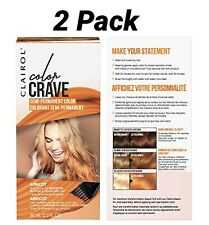 Clairol Color Crave Semi-permanent Hair Color 2 Pack-Apricot