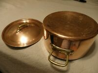 Copper 4 quart stockpot, marked Havard, made in France