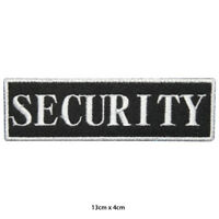 Security Officer Embroidered Patch Iron on Sew On Badge For Clothes Bags etc