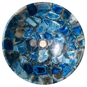 Blue Agate Handmade Round Sink Wash Basin Bathroom & Kitchen Decor Accessorize