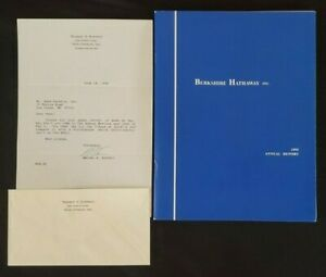 1995 Berkshire Hathaway Annual Report Warren Buffett + Autographed Letter!