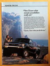 Magazine Print Ad 1990 Toyota 4x4 SR5 V6 Truck