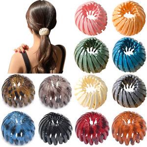 Women Bird Nest Expanding Ponytail Tail Hair Bun Holder Clips Claw Girls Hairpin