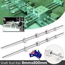2X 8mm 800mm Bearing Linear Shaft Rod Rail W/ 4 SCS8UU Block For 3D Printer CNC