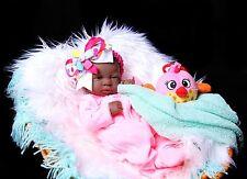 "Baby Girl African American Handmade Doll Toy Reborn Berenguer 14"" Vinyl Newborn"