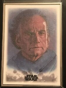 Emperor Palpatine 2019 Topps Star Wars Stellar Sketch Art Reproduction #86 /100