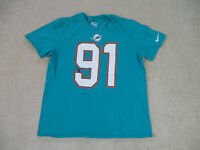 Nike Miami Dolphins Shirt Adult Large Green White Cameron Wake Football Mens A0*