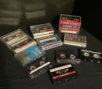 Lot of 15 Pre Recorded Cassette Tapes Sold as Blanks Maxell TDK Fuji Sony Scotch