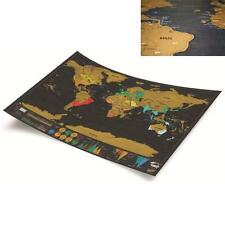 Deluxe Cute Travel Edition Vacation Scratch Off World Map Poster Personal Log LD