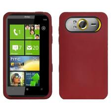 AMZER Silicone Soft Skin Jelly Fit Case Cover for HTC HD7 - Maroon Red