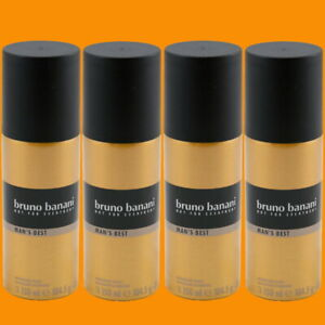 Bruno Banani MAN'S BEST Deo Spray Deodorant 4 x 150 ml