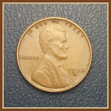 1938 S Lincoln Wheat Cent, 1 (One) Coin, Beautiful EF Grades (Stock Photo)