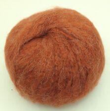 10 Pelotes laine mohair   poils mi  longs  couleur : rouille