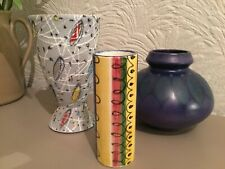 Mid Century Ceramic Hand painted Bud Vase-Austrian? German? #3769