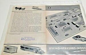 """Wiking 1:87/160 """" Katalog (1957) / gebraucht, aber sauber"""