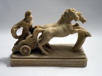 Vintage Italian Resin Sculpture A.Giannetti Roman Gladiator On Chariot