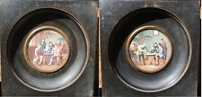 Gorgeous, Miniature Pair of Scene Inside Tavern with characters (XIX)