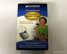 Plantronics S12 Hands-Free Telephone Headset System in OEM package