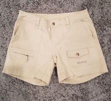 Marmot Women's Tan Shorts Size 4 multi pockets  Spell Out
