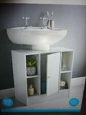 Wide 4 Shelf +1 Door Under Sink Bathroom Storage Cabinet Undersink Cupboard (F)