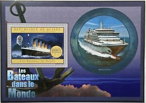 GUINEA TITANIC STAMPS 2012 MNH CAPT EDWARD SMITH CRUISE SHIP OCEAN LINER BOATS