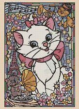 Disney cross stitch chart Aristochats Stained Glass 359 Flowerpower 37