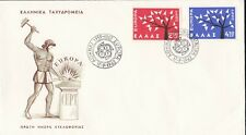 EU42) Greece 1962 - Europa Stamps On First Day Cover
