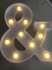 LED Light Up Alphabet Letter Lights White Plastic Letters Standing Sign Name A-Z