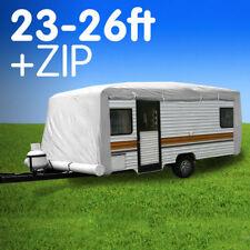 PREMIUM 23ft to 26ft CARAVAN COVER WITH SIDE ZIP CAMPERVAN 24ft 25ft
