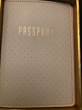 His & Hers Passport Gift Set Black & White passport wallet Gold Letters NIB